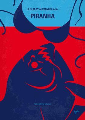 No433 My Piranha minimal movie poster After a sudden u ...