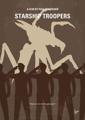 No424 My Starship Troopers minimal movie poster Humans ...
