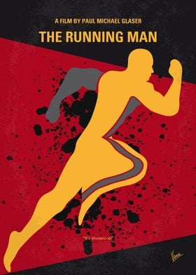No425 My Running man minimal movie poster A wrongly co ...
