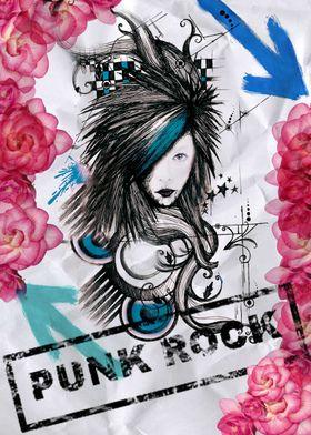punk rock rose lady