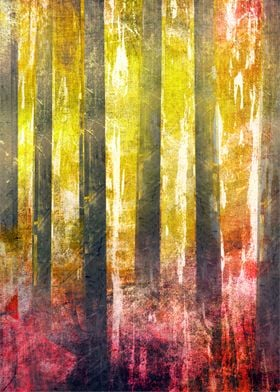 Abstract print /Trees
