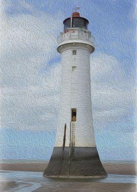 Perch Rock Lighthouse Textured Finish