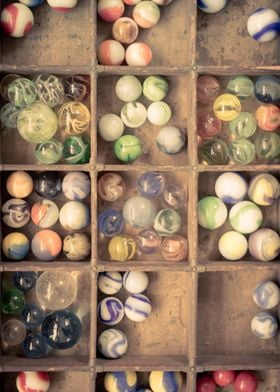 Vintage marble collection by Edward M. Fielding