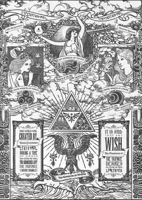 A very ornate retelling of the legend of the Triforce a ...
