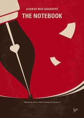 No440 My The Notebook minimal movie poster -A poor and ...