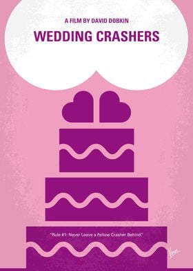 No437 My Wedding Crashers minimal movie poster -John Be ...