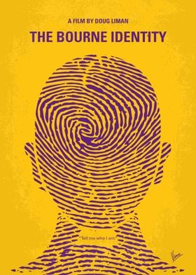 No439 My The Bourne identity minimal movie poster - man ...