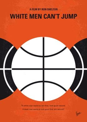No436 My White Men Cant Jump minimal movie poster -Blac ...