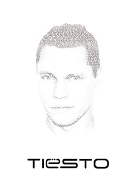Tiësto! The portrait consist of the lyrics of the songs ...