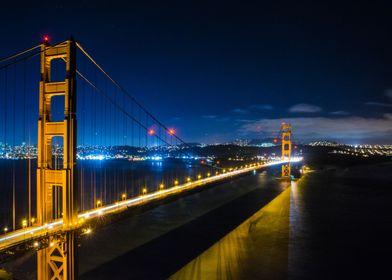 Golden Gate Bridge - This was taken late one night when ...
