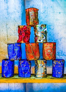 Soup Cans After The Lunch