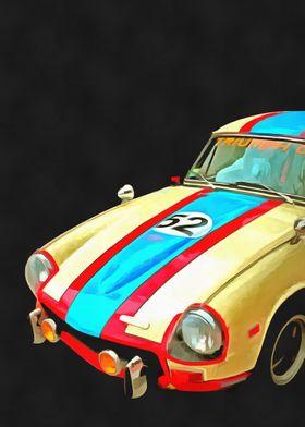 Triumph GT Pop Art by Edward M. Fielding