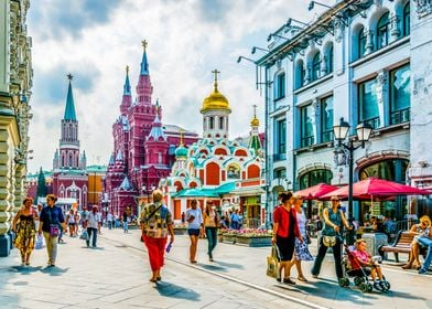 Nikolskaya Str. of Moscow