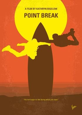 No455 My Point Break minimal movie poster An FBI agent ...