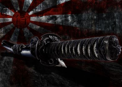 Samurai Sword Grunge Room