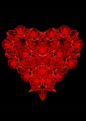 Love - red flowers in the shape of a heart by Edward M. ...