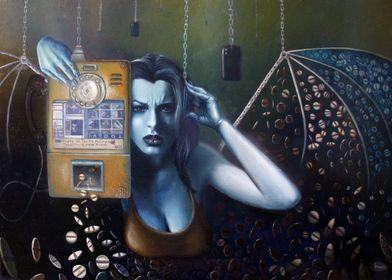 Limbicola (The Eidolon call) 2015 Oil on canvas mounted ...