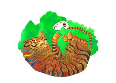 Artist tiger