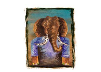 elephant with ivory tattoo