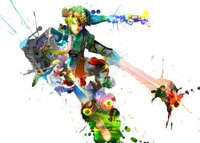 Link Splash from Zelda Gaming Series