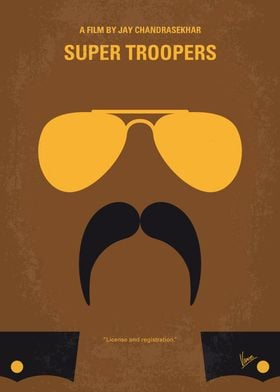 No459 My Super Troopers minimal movie poster Five Verm ...
