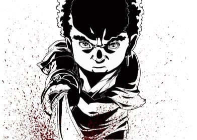 Searching the No.2....Fanart: Afro as Kid from a scene  ...