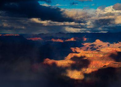 Sunset on the Grand Canyon Arizona