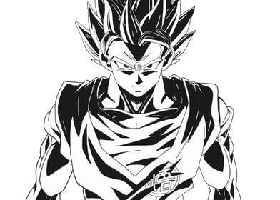 Son Guku SSJ2 V1Fanart from Dragonball Z, SonGoku
