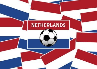 Netherlands Flag Football. This design features a layer ...