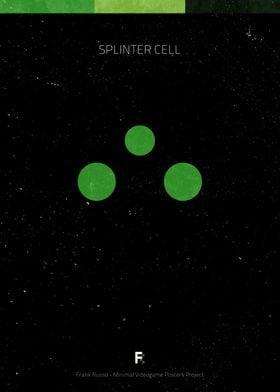 Splinter Cell. Minimal Videogame Poster.