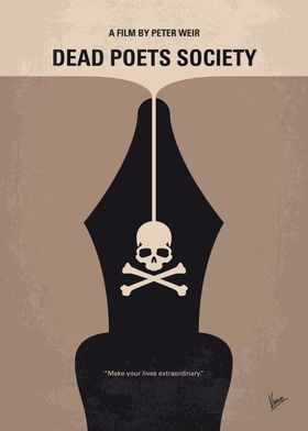 No486 My Dead Poets Society minimal movie poster Engli ...