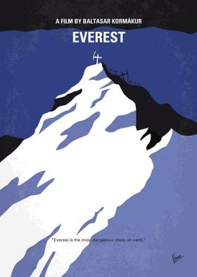 No492 My Everest minimal movie poster A climbing exped ...