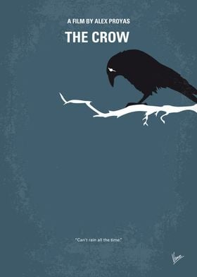 No488 My The Crow minimal movie poster A man brutally ...