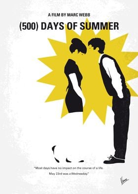 No500 My (500) Days Of Summer minimal movie poster An ...