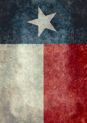 The lone star state flag of texas with my vintage treat ...