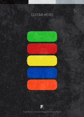 Guitar Hero. Minimal Videogame Poster.