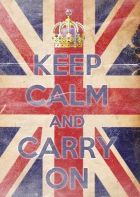 Keep Calm Vintage British