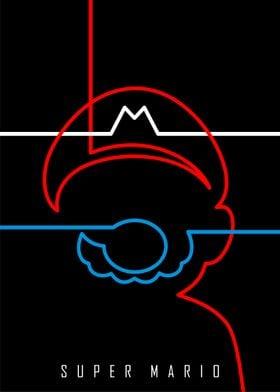 """Minimal """"Super Mario"""" Poster"""