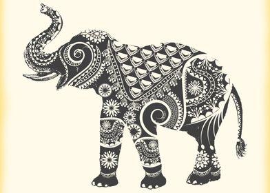 Ornate Indian Elephant
