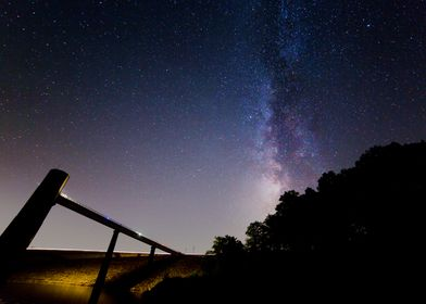 Milky Way at the Frances E Walter Dam: Northeastern Pen ...