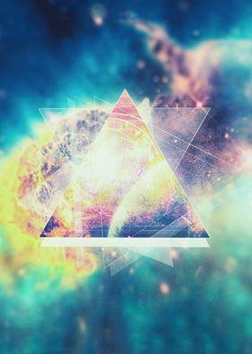 Awsome collosal deep space triangle art sign Awesome g ...