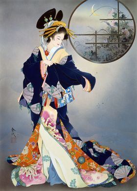 Haruyo Morita Flowers Geisha Japanese Japan Asian Tradi ...