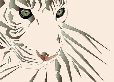 Tiger's Tranquility - Digital Art