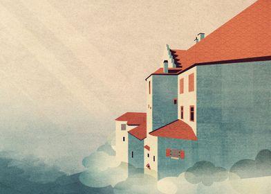 Castle in the Sky - Digital Art