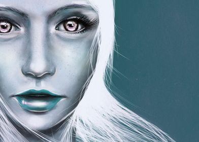 Mermaid Girl Digital Painting, 2015