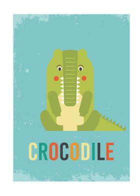 Retro Crocodile
