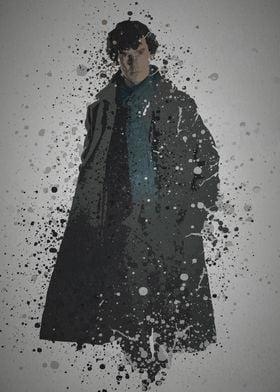 """""""Detective"""" Splatter effect artwork inspired by the TV  ..."""