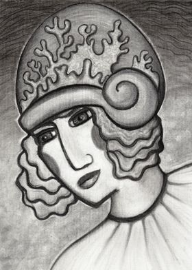 Coral Cloche - in charcoal
