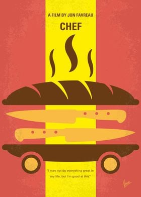 No524 My CHEF minimal movie poster A chef who loses hi ...