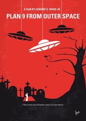 No518 My Plan 9 From Outer Space minimal movie poster  ...
